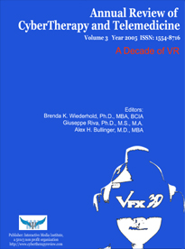Annual Review of CyberTherapy and Telemedicine, Volume 3, 2005